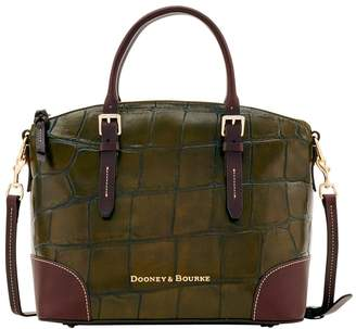 Dooney & Bourke Large Croc Domed Satchel