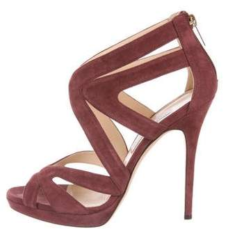 Jimmy Choo Suede Cage Sandals