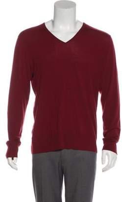 John Varvatos Wool V-Neck Sweater wool Wool V-Neck Sweater