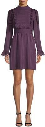 Anna Sui Women's Ruffle Bib Shirt Dress