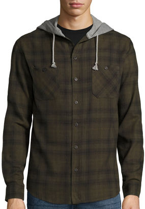 Union Bay Long-Sleeve Sherwood Flannel Hoodie $44 thestylecure.com
