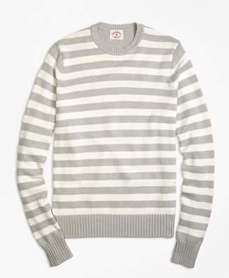 Variegated Stripe Crewneck Sweater $108 thestylecure.com