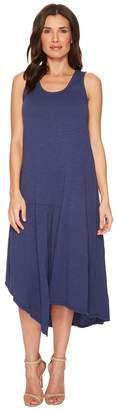 Mod-o-doc Slub Jersey Shirred Seamed Hi-Low Tank Dress Women's Dress