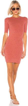 Enza Costa Rib Short Sleeve Mini Dress