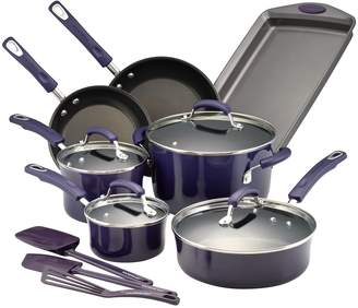 Rachael Ray Hard Porcelain Enamel Non-Stick Cookware Set (14 PC)
