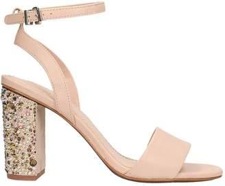 Lola Cruz Powder Leather Sandals