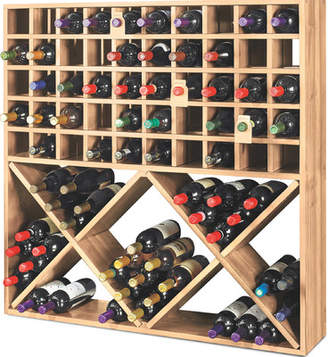 Wine Enthusiast Companies Jumbo Bin Grid 100 Bottle Floor Wine Rack