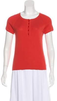 Akris Punto Short Sleeve Knit Top