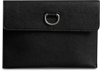 Burberry D-ring Leather Pouch with Zip Coin Case