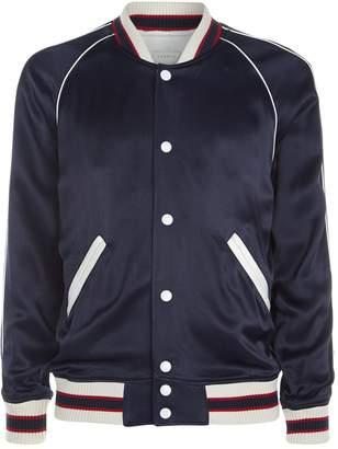 Sandro Satin Varsity Jacket