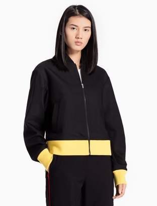 Calvin Klein colorblock bomber jacket