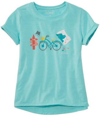 L.L. Bean L.L.Bean Girls' Pathfinder Tee, Short Sleeve, Graphic