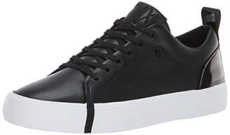 Armani Exchange A|X Women's Eco Leather Low Top Sneaker Black
