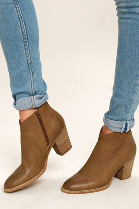 Steve Madden Gilmore Tan Nubuck Leather Ankle Booties $129 thestylecure.com