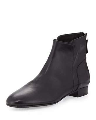 Delman Myth Leather Ankle Boot, Black $398 thestylecure.com