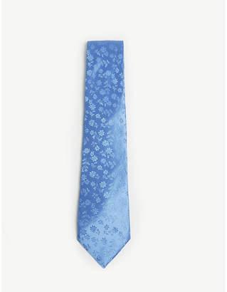 Duchamp Daisy print silk tie