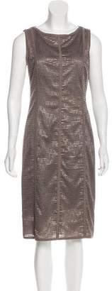 Akris Punto Wool Mesh-Trimmed Dress