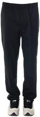Oamc Black Wool-blend Trousers