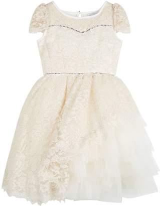 MonnaLisa Embellished Lace Dress