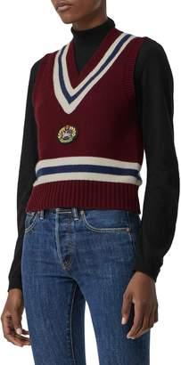 Burberry Maringa Embroidered Crest Sweater Vest