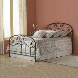 Rusty Leggett & Platt Grafton Complete Metal Bed and Steel Support Frame with Prominent Scrollwork and Decorative Castings, Gold Finish, Full