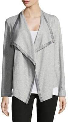 Joan Vass Long Sleeve Cardigan