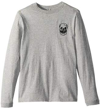 Stella McCartney Gene Long Sleeve 'That's Ace' T-Shirt w/ Skull Embroidery Boy's T Shirt