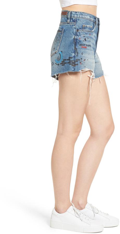 BLANKNYC Denim Ms. Throwback Cutoff Denim Shorts 2