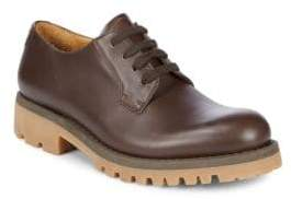 Valentino Lace-Up Leather Derbys