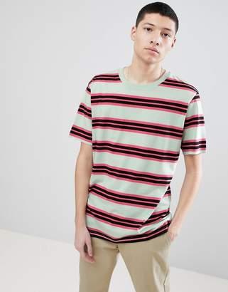 Weekday Frank Striped T-Shirt Light Green