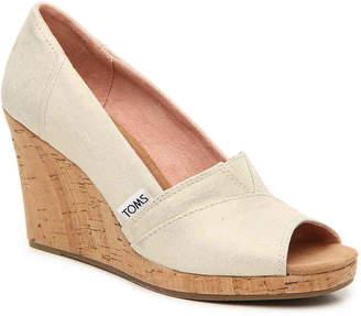 9e57ec86277 Toms Cork Wedge Shoes - ShopStyle