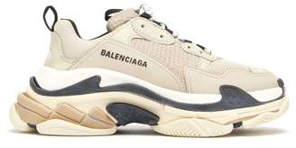 Balenciaga Triple S Low Top Trainers - Womens - Beige