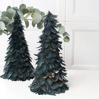 Marquis & Dawe Gold Brushed Feather Christmas Tree