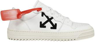 Off-White Embroidered Low-cut Sneakers