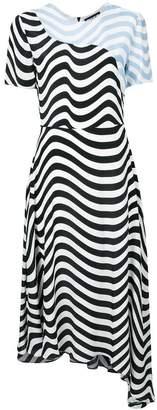 House of Holland asymmetric hypnotic dress