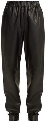 Tibi Tissue leather trousers