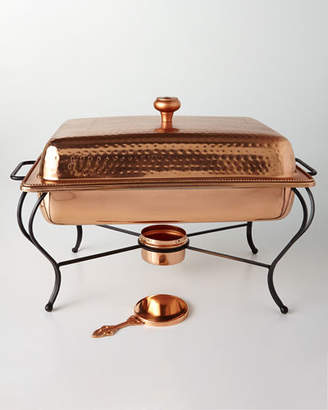 Star Home Designs 6-Quart Rectangular Copper-Plated Chafing Dish