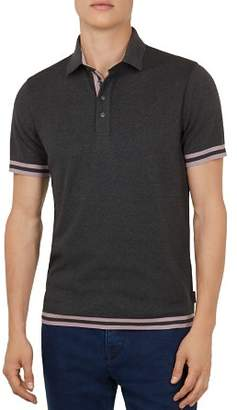 Ted Baker Fizyfan Stripe-Trimmed Polo Shirt