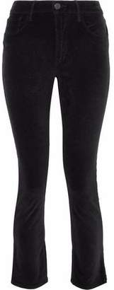 3x1 Higher Ground Cropped Velvet Slim-Leg Pants