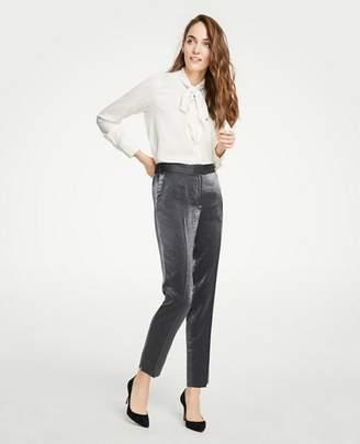 Ann Taylor Petite Shimmer Elastic Back Ankle Pants