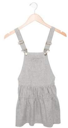 Chloé Girls' Flared Overall Dress