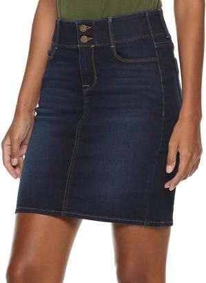 Apt. 9 Women's Tummy Control Denim Skirt