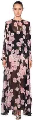 Giambattista Valli Printed Silk Georgette Kimono Maxi Dress
