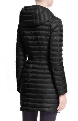 Moncler Barbel Water Resistant Long Hooded Down Jacket