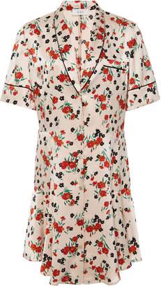 A.L.C. Ruthie Button Up Stretch Silk Mini Dress