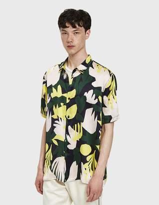 Printed Short Sleeve Shirt in Mixed Print
