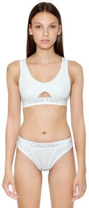 Calvin Klein Underwear Cutout Unlined Cotton Jersey Bralette