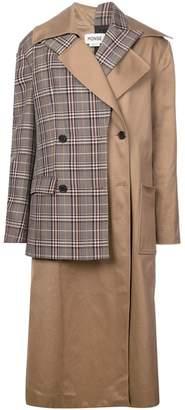 Monse layered double breasted coat