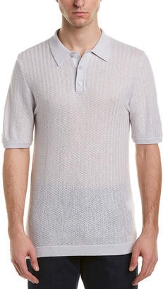 Reiss Ramsey Wool & Linen-Blend Polo