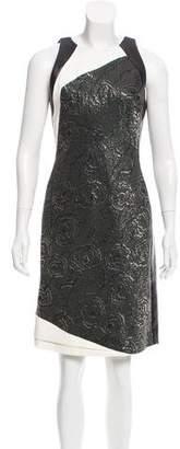 J. Mendel Leather-Paneled Embellished Dress w/ Tags